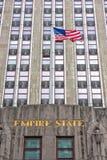 NOWY JORK - usa - 11 2015 CZERWIEC - empire state building widok przy nocą Obraz Royalty Free