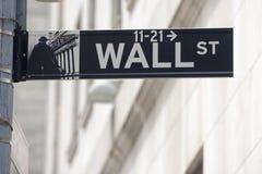 NOWY JORK - usa giełdy papierów wartościowych ścienny uliczny znak Zdjęcie Stock