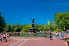NOWY JORK, usa - LISTOPAD 22, 2016: Niezidentyfikowani ludzie chodzi obrazki w atrakci turystycznej i bierze, Bethesda Obrazy Royalty Free