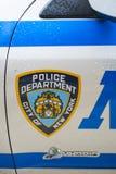 NOWY JORK, USA - LISTOPAD 22: Szczegół drzwi Nowy Jork policja ca Zdjęcie Royalty Free