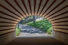 Nowy Jork, usa Maj 21, 2014 Łuk i tunel w centrala parku wewnątrz Obrazy Royalty Free