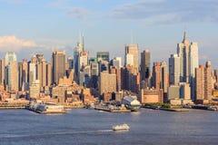 Nowy Jork, usa Maj 20, 2014 Miasto widok Miasto Nowy Jork linia horyzontu obrazy stock