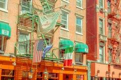 NOWY JORK, usa - MAJ 05, 2017: Ulicy Manhattan Nowy Jork i Mały Włochy teren w Nowy Jork Usa specyficznie Obraz Stock