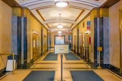 NOWY JORK, usa - MAJ 05, 2017: Widok from inside w małżeństwa biura ` s jawnym recepcyjnym korytarzu przy miasto urzędnika ` s Obraz Royalty Free