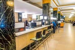 NOWY JORK, usa - MAJ 05, 2017: Widok from inside w małżeństwa biura ` s jawnym recepcyjnym korytarzu przy miasto urzędnika ` s Zdjęcia Royalty Free