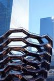 Nowy Jork Nowy Jork, usa,/- Marzec 09 2019: Naczynie w budowie, prawie skończony, budynki za zdjęcie royalty free