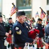 NOWY JORK, usa - MARZEC 17, 2015: Rocznika St Patrick dnia parada wzdłuż fifth avenue w Nowy Jork fotografia stock