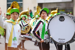 NOWY JORK, usa - MARZEC 17, 2015: Rocznika St Patrick dnia parada wzdłuż fifth avenue w Nowy Jork obrazy royalty free
