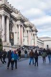 Nowy Jork, usa - 3 Styczeń, 2019: Wielkomiejski muzeum sztuki w Miasto Nowy Jork, jest muzeum sztuki w Stany Zjednoczone wejście zdjęcia royalty free