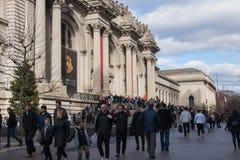 Nowy Jork, usa - 3 Styczeń, 2019: Wielkomiejski muzeum sztuki w Miasto Nowy Jork, jest muzeum w Stany Zjednoczone wejście obraz stock