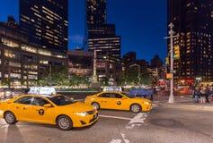 NOWY JORK, usa - WRZESIEŃ 26, 2013: sławny żółty Miasto Nowy Jork Zdjęcie Stock