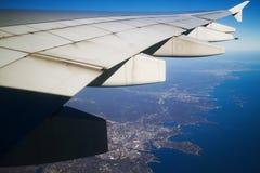 Nowy Jork widok od samolotu zdjęcie royalty free