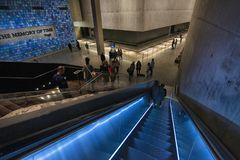 Nowy Jork world trade center Września 11 muzeum obraz stock