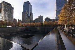Nowy Jork world trade center Września 11 muzeum obraz royalty free