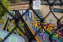 Nowy Jork, Wrzesień - 18, 2016: Malowidło ścienne rocznik na ulicach Zdjęcia Royalty Free
