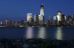Nowy Jork zmierzchu linia horyzontu Obraz Royalty Free