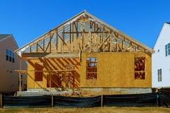 Nowy kij budujący domowy w budowie zdjęcia stock