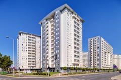 Nowy kompleks budynki mieszkalni zdjęcie royalty free