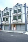 Nowy 3 kondygnacj Handlowy budynek Fotografia Royalty Free
