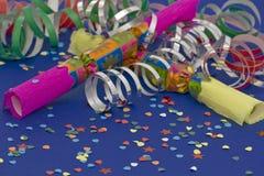 nowy krakersa rok s Zdjęcia Royalty Free