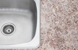 Nowy kuchennego zlew i countertop szczegół Obraz Stock