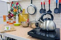 Nowy kuchenny wyposażenie fotografia royalty free