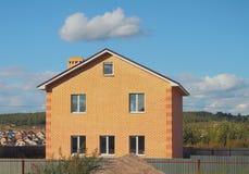 Nowy ludnościowy kraj cegły dom Zdjęcie Royalty Free
