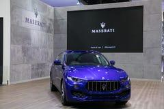 Nowy Maserati suv na pokazie w Bangkok Międzynarodowym Motorowym przedstawieniu 2017 Obrazy Stock