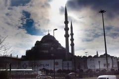 Nowy meczet w Eminonu Fatih Istanbuł fotografia stock