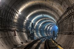 Nowy metra metra tunel Zdjęcia Stock