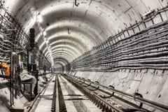 Nowy metro tunel Zdjęcie Royalty Free