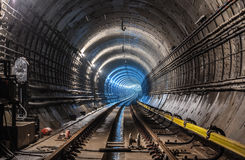 Nowy metro tunel Obraz Royalty Free