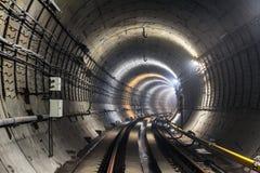 Nowy metro tunel Zdjęcia Stock