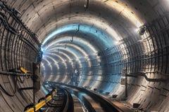 Nowy metro tunel Zdjęcie Stock