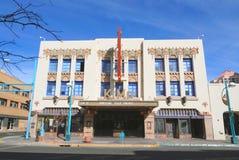 Nowy - Mexico, Albuquerque/: Art Deco Budować - KiMo teatr obraz royalty free