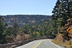 Nowy - Mexico droga w spadku Zdjęcia Royalty Free