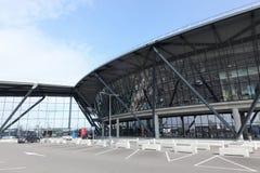 Nowy międzynarodowy terminal przy świętego Exupery lotniskiem w Lion, Francja Fotografia Stock