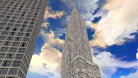 Nowy miasta 3d model przy Jeddah royalty ilustracja