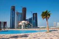 Nowy miasto Abu Dhabi UAE Obraz Royalty Free
