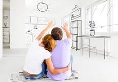 Nowy mieszkanie Fotografia Royalty Free