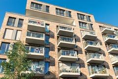Nowy mieszkanie dom w Hamburg Fotografia Royalty Free