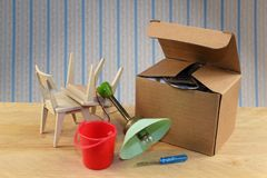 Nowy mieszkanie - rusza się pudełko i więcej Obraz Stock