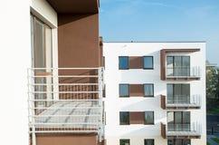 Nowy mieszkaniowy blok Obrazy Royalty Free