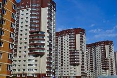 Nowy mieszkaniowy rozwój Rosja przypuszczenia katedralna dmitrov Kremlin Moscow pocztówkowa regionu Russia zima Fotografia Royalty Free