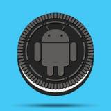 Nowy mobilny systemu operacyjnego android Oreo royalty ilustracja
