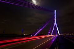 Nowy most przez rzekę Rhine fotografia stock