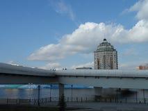 Nowy most w Astana obraz stock