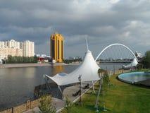 Nowy most w Astana zdjęcie royalty free