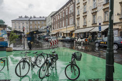 ` Nowy ` New square in Krakow royalty free stock photo
