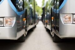 Nowy nowożytny miasto autobus Obraz Royalty Free